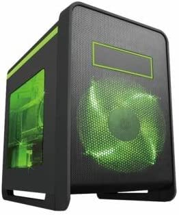 MS-Tech Crow Q1/GR Carcasa de Ordenador Cubo Negro, Verde - Caja de Ordenador (Cubo, PC, SECC, Negro, Verde, Micro ATX,Mini-ITX, 1x 200 mm): Amazon.es: Informática
