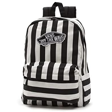 2b3507a875d Vans G Realm Black and White Stripe Backpack Rucksack: Amazon.co.uk: Shoes  & Bags