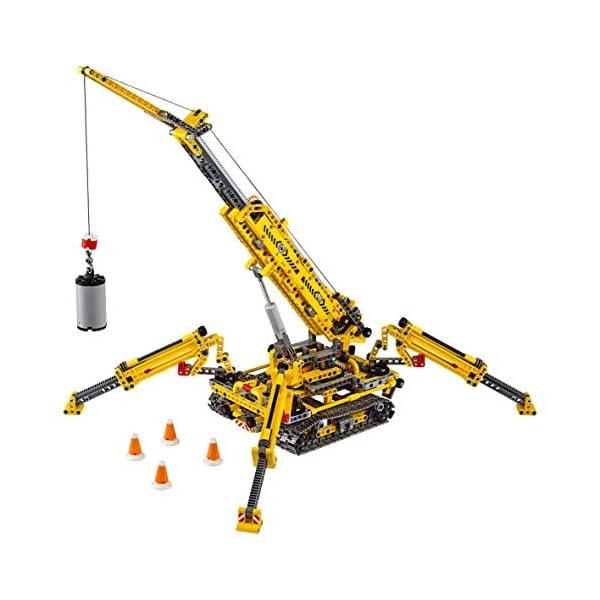 LEGO - Technic Gru Cingolata Compatta, Ricostruibile a Torre Compatta, Set di Costruzioni 2 in 1, 42097 3 spesavip