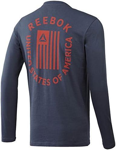 Reebok Americana LS Camiseta, Hombre: Amazon.es: Ropa y accesorios