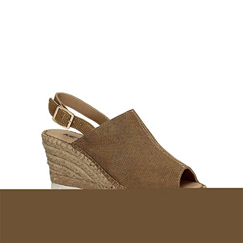 compensées Femmes Sandales Beige 5356 KEYS Fxq61Ha