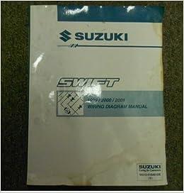 1999 2000 2001 suzuki swift wiring diagram shop manual factory oem water  damage: suzuki: amazon com: books