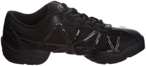 Capezio Capezio Websneaker - Zapatillas para mujer Negro (Black/Black Patent)