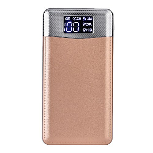 Hanbaili 30000mAh Portable Quick Charge 3.0 USB/Type-C/Micro USB Power Bank External Battery for iPhone Samsung Android