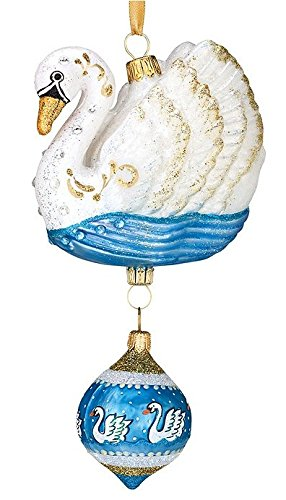 Reed & Barton 12 Days of Christmas - 7 Swans a Swimming Ornament ()