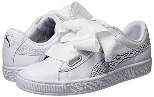 Oceanaire puma Mujer Heart Blanco Para Wn's Puma Zapatillas White puma Basket White qEwYx58