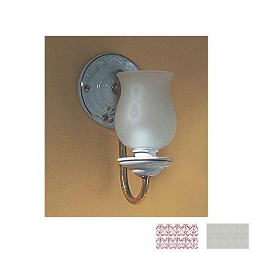 Wall Light in Berain Rose, Polished Nickel (Herbeau Berain Rose)