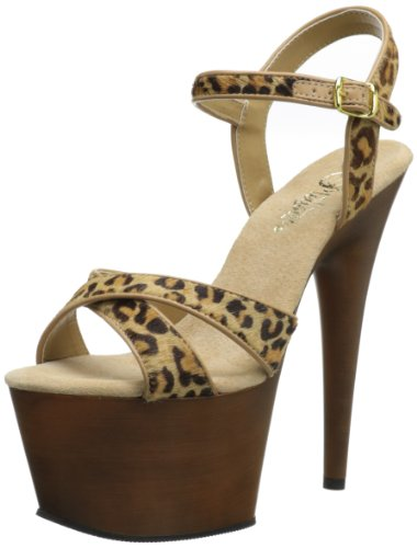 Brown Mujer Pleaser Leopard Tan Pony Fw L Hair Sandalias 47nW70