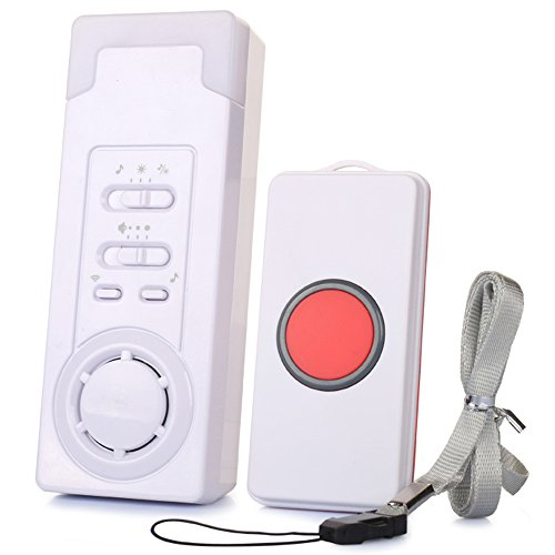Smart Caregiver Pager,BOIRBlue Wireless Caregiver Personal Pager System Emergency Care Alarm Call Button Nurse Alert System -500+ft Operating Range (1 in (Alert System Alarm Kit)