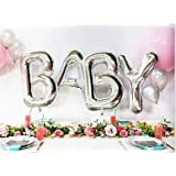 Baby Balloon Baby Balloon Letters Baby 40 Inch Silver Large Helium Balloons Decorations,Foil Balloon, Baby Shower…