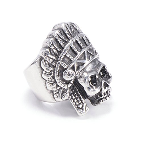 mens-316l-stainless-steel-vintage-indian-ring-silver-gothic-vintage-biker-size-13
