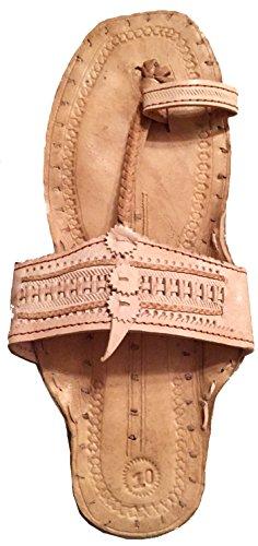 Hippie Indian Water Buffalo Jesus Sandals 100% Leather (men's size 7/women's size 9, sand)