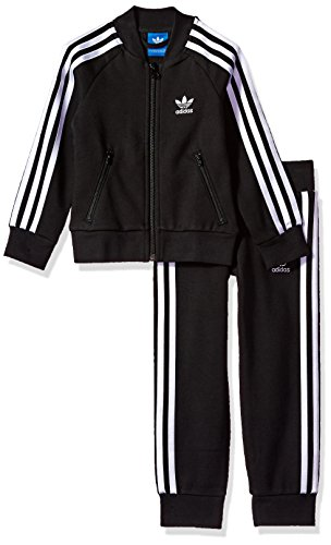 Price comparison product image adidas Originals Outerwear Big Kids Superstar Track Suit, Black/White, Large