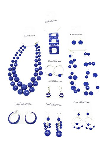 Fantastic 9 Piece Blue Summer Jewelry Lot
