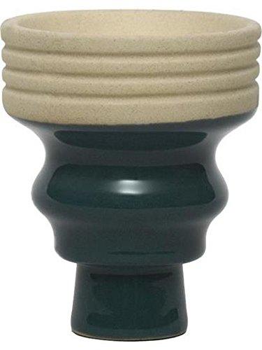 Large Mya Bevel Porcelain Hookah Burner Bowl/Head - Green by MYA