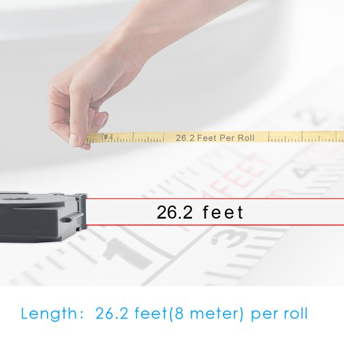 P Touch Label Maker Tape, Unistar TZe Tape 12mm 0.47 Inch Laminated White Compatible with Brother P-Touch Cube, PTD600, PTH110, PT-D210 Label Maker and More, 26.2 Feet (8 Meter) Roll, 5-Pack by Unistar (Image #3)