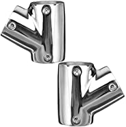 Pipe Connector Hand Rail Tee,WETOUN 60 Degree 3 Way Left and Right Deck Hand Rail Fitting 316 Stainless Steel