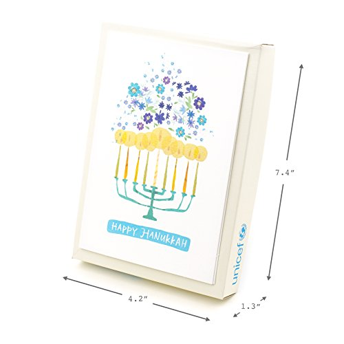 Hallmark UNICEF Hanukkah Boxed Cards (Menorah Candles, 12 Hanukkah Greeting Cards and 13 Envelopes) Photo #5