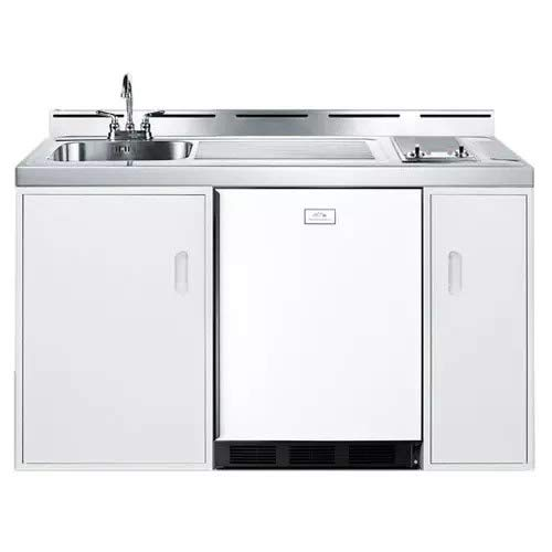 Summit C60ELGLASS Kitchen All in One Combination Unit, White