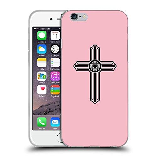 GoGoMobile Coque de Protection TPU Silicone Case pour // Q07980630 Christian Cross 23 Rose // Apple iPhone 7