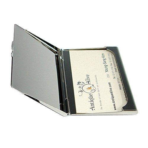Antique Alive card case Mother of Pearl Damen Business Kreditkarte ID Name Karte Fall Cash Metall Edelstahl Gravur Slim Geldb/örse Geld mit Schmetterling Design