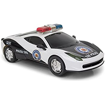 bump and go police car with lights and sirens changes direction on contact