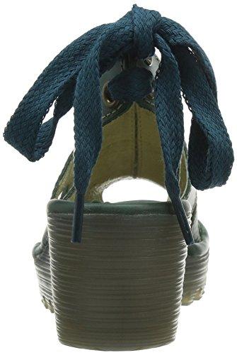 FLY London Yown - Sandalias con cuña Mujer Azul (Petrol)