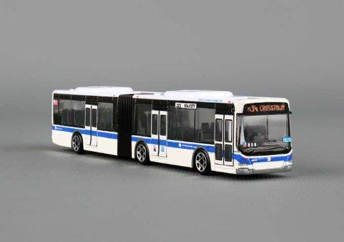 DARON NEW YORK CITY NYC MTA ARTICULATED HYBRID BUS REPLICA 1/90 HO SCALE MODEL