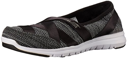 Avia Womens Avia Aura Avi Flat Grey Womens Loafer Black Iron rrfdwngq