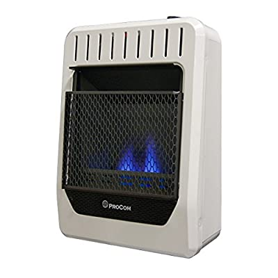 Procom MG10TBF Ventless Dual Fuel Blue Flame Thermostat Control Wall Heater – 10,000 BTU