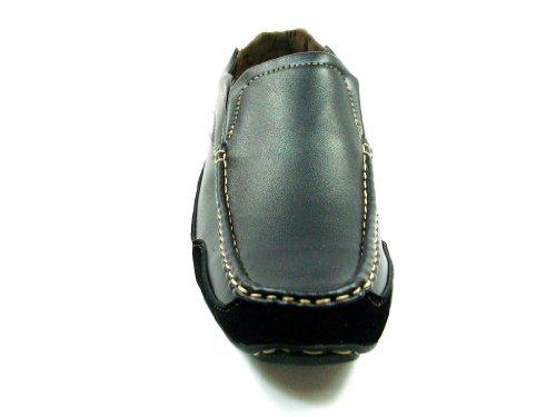 Heren Cas-902 Casual Slip Op Mocassin Comfort Loafer Schoenen Zwart
