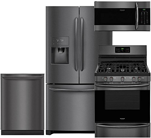 (Frigidaire Gallery 4-Piece Black Stainless Steel Package with FGHB2868TD 36