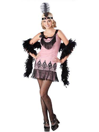[Flirty Flapper Teen/Junior Costume - Teen Large] (Flirty Teen Flapper Costumes)
