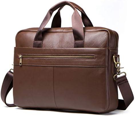 メンズラップトップビジネスブリーフケース第一層革男性のバッグ