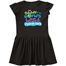 inktastic Daddy Is The World's Best Payroll Clerk Toddler Dress