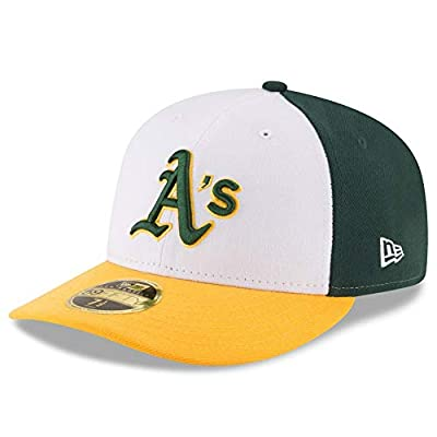 Oakland Athletics Low Profile Tri-Tone Fitted Size 7 1/4 Hat Cap - Team Colors