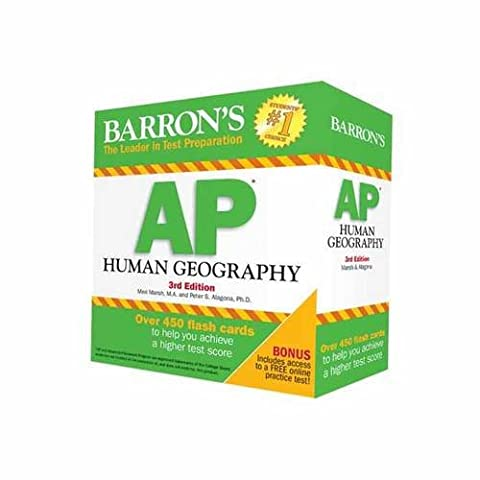 Barron's AP Human Geography Flash Cards, 3rd Edition (Geography Practice)
