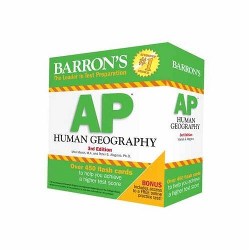 Barron's AP Human Geography Flash Cards, 3rd Edition cover