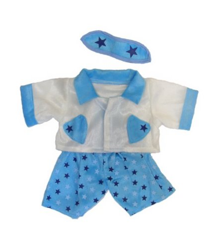 """Boys Star Pj's Teddy Bear Clothes Outfit Fits Most 14"""" - 18"""" Build-A-Bear, Vermont Teddy Bears, and Make Your On Stuffed Animals"""