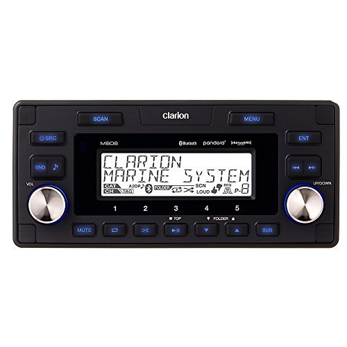 Clarion M608 Marine In-Dash 4-zone SIRIUS/XM-ready Digital Media Receiver with Bluetooth