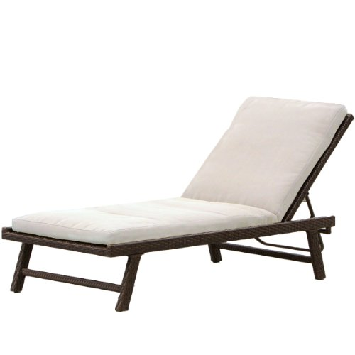Christopher Knight Home 235474 Florida Adjustable Chaise Lounge Cushion, Brown, Beige