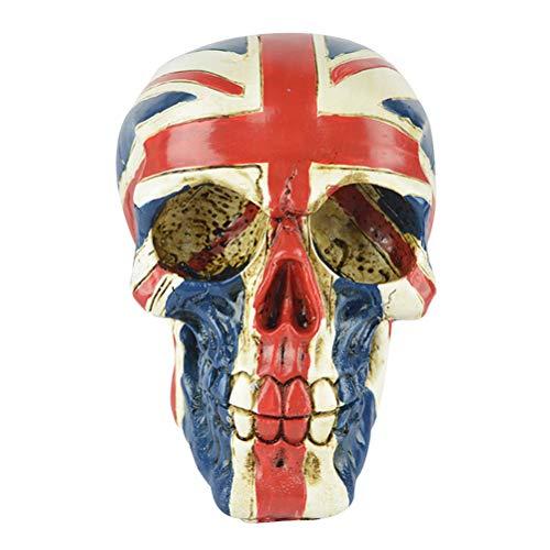 BESTOYARD United Kingdom Flag Skull UK Tattoo Figurine Statue Union Jack for Halloween (Union Jack Tattoos)