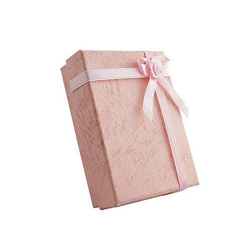 Domire 2 Pcs Elegant Luxury Rectangle Jewellery Gift Boxes For Bracelets Pendant Earring Necklace,Pink