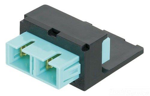Panduit CMSEISCEI Multi-Mode Fiber Optic Adapter Module with Phosphor Bronze Sleeve, Electric Ivory