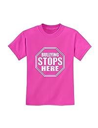 TeeStars - Bullying Stops Here Pink Day Shirt Stop Sign Design Kids T-Shirt