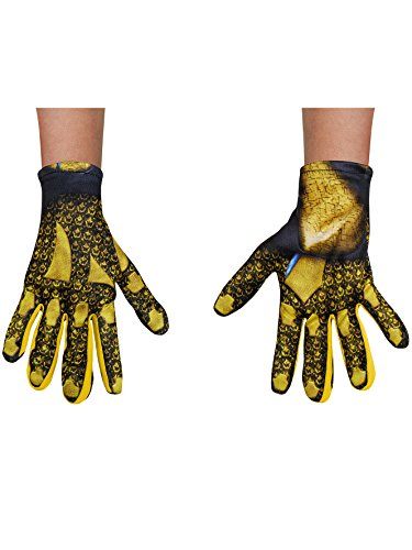 Disguise Yellow Power Ranger Movie Child Gloves, One -