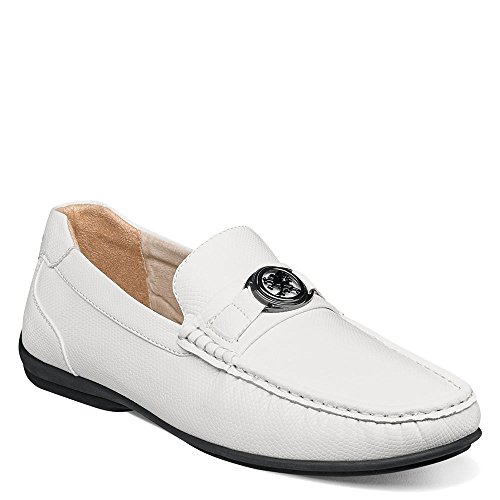 Adams Toe White Men's Slip Loafer Driving Moc Bit on Stacy Cyprus Style 6PUd6q