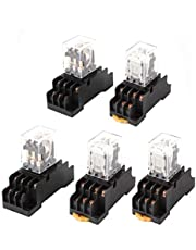 X-DREE AC 24V Coil 3PDT 11 Pin General Purpose Power Relay 5 Pcs w Socket(AC 24 ν Coil 3PDT 11 pin Relè di Potenza per USO generico 5 pz w Presa