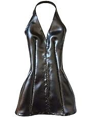 NEDTO 1/6 Schaal Zwart Faux Leather Houder Mini Dress voor 30,5 cm Hot Toys HT, Phicen PH, CY Meisjes Vrouwelijke Body