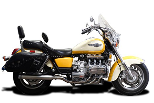 "Honda Valkyrie Complete 6-2 Exhaust 21"" Bull Nose Stainless Round Muffler 97-04"